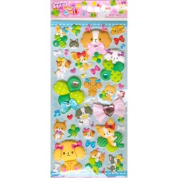 Dogs Happiness Puffy Stickers