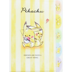 Carpeta Clasificadora Index Pikachu Best Friends