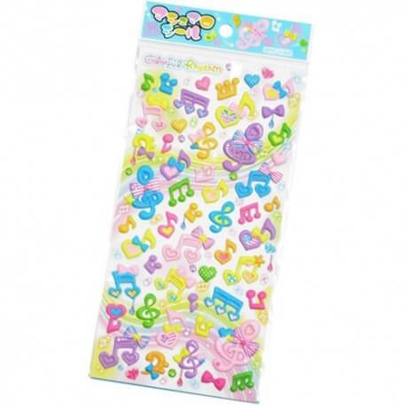 Stickers Puffy Colorful Rythm