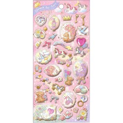 Garden Tea Time Puffy Stickers