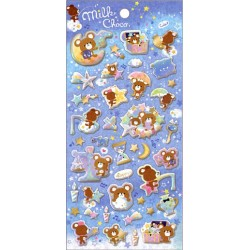 Milk Choco Puffy Stickers