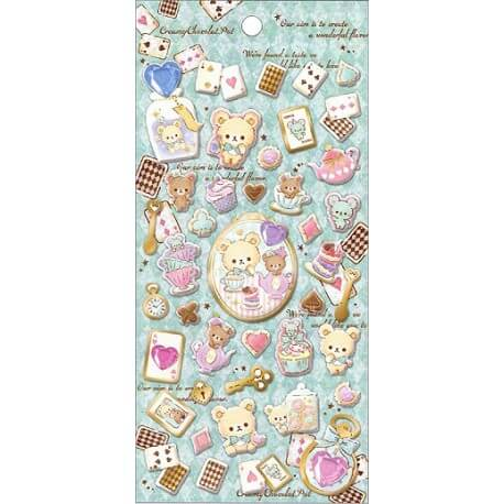 Creamy Chocolate Puffy Stickers