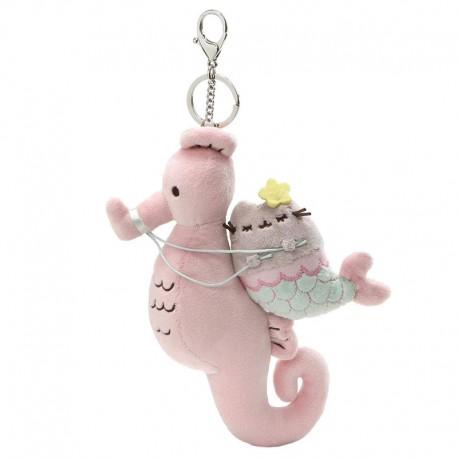 Pusheen Mermaid Seahorse Deluxe Keychain