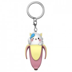 Bananya Long-Haired Cat Keychain