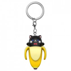 Bananya Black Cat Keychain