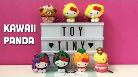 Hello Kitty and Rilakkuma Squishies from Kawaii Panda | Toy Tiny