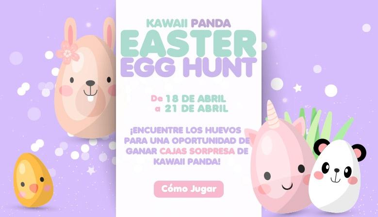 Encuentre los Huevos de Pascua para una oportunidad de GANAR Cajas Sorpresa de Kawaii Panda!