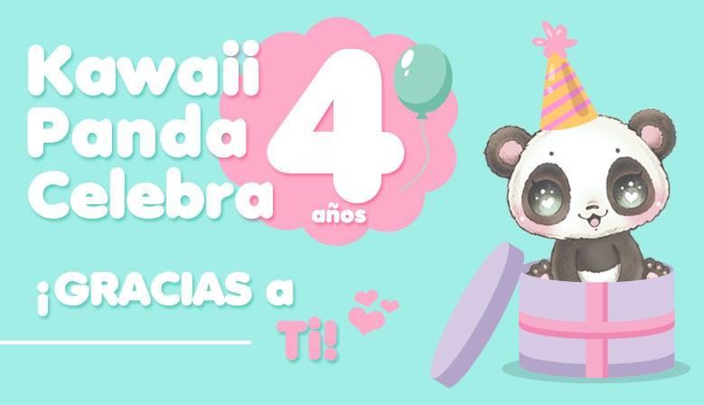 Kawaii Panda Celebra 4 años gracias a ti!