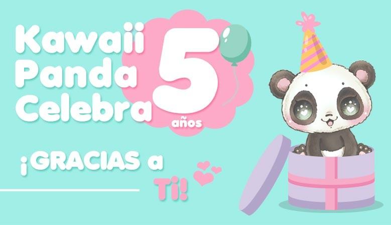 Kawaii Panda Celebra 5 años gracias a ti!