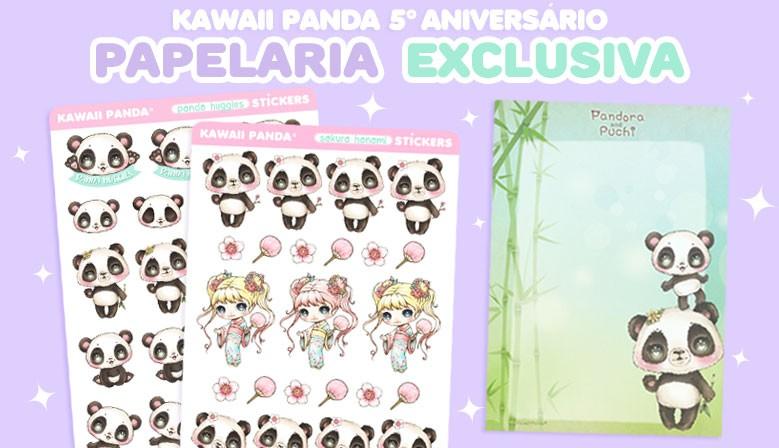 Fofuras de papelaria exclusivas da Kawaii Panda!