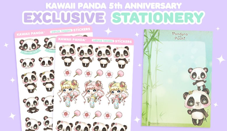 Stationery cuteness exclusive from Kawaii Panda!